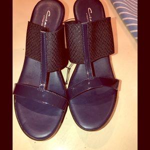Clark's Navy Heels